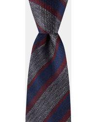 DKNY - Grey, Navy & Wine Stripe Tie - Lyst
