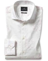Moss London Slim Fit Pink Floral Print Shirt