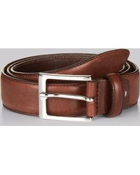 Hardy Amies - Chocolate Real Leather Belt - Lyst