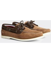 Tommy Hilfiger Khaki Classic Suede Boat Shoe - Natural