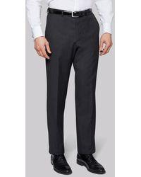 Moss Bros Regular Fit Charcoal Pants - Grey