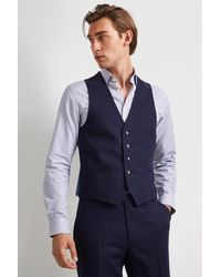 DKNY Slim Fit Blue Check Jacket