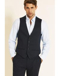 Ted Baker Alter Eco Tailored Fit Navy Pindot Waistcoat - Blue