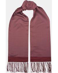 Moss London Wine Pin Dot Dress Scarf - Red