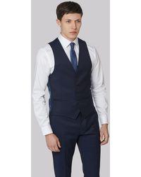 DKNY Slim Fit Ink Twill Waistcoat - Blue
