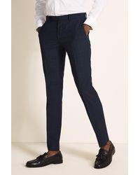 DKNY Slim Fit Blue Check Pants