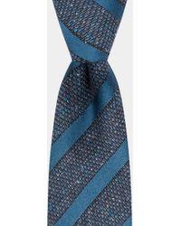 DKNY - Teal Textured Grenadine With Tonal Stripe Tie - Lyst