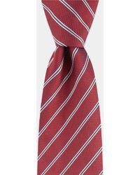 HUGO - Red Diagonal Stripe Tie - Lyst