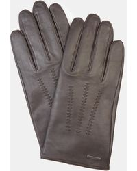 BOSS Brown Leather Gloves