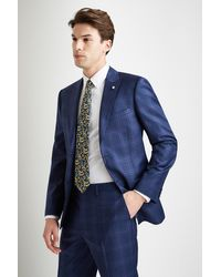 Ted Baker Tailored Fit Blue With Purple Check Jacket