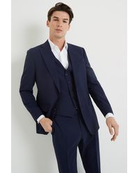 Lanificio F.lli Cerruti Dal 1881 Tailored Fit Blue Itravel Jacket