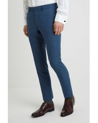DKNY Slim Fit Summer Blue Texture Pants