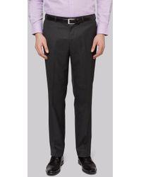Moss Esq. Regular Fit Charcoal Pants - Gray