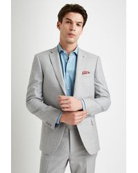 Ted Baker Tailored Fit Light Gray Crepe Pants