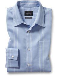 Moss London Slim Fit Blue Stripe Shirt