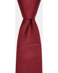 Moss Bros - Burgundy Semi-textured Silk Tie - Lyst