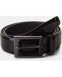 Moss London Black Patent Belt