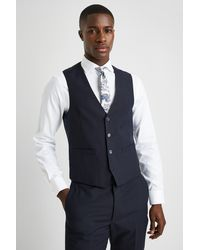 French Connection Slim Fit Navy Waistcoat - Blue