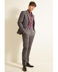 Ted Baker Slim Fit Gray Twill Jacket