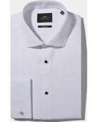 Moss Bros Extra Slim Fit White Marcella Dress Shirt