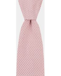 Moss London - Pink Knitted Tie - Lyst