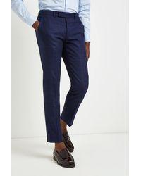 Moss London Skinny Fit Blue Bold Check Pants