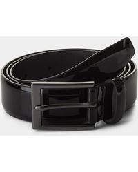 Moss London - Black Patent Formal Belt - Lyst