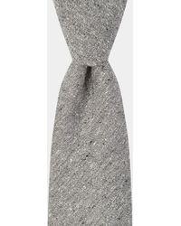 Hardy Amies - Grey Spun Silk Tie - Lyst