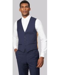 Ted Baker - Tailored Fit Blue Pindot Waistcoat - Lyst