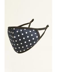 Moss Bros Moss Navy Polka Dot Cotton Mask - Blue