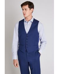 Ted Baker - Tailored Fit Bright Blue Pindot Waistcoat - Lyst