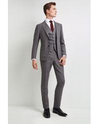 DKNY Slim Fit Grey Texture Jacket