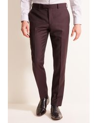 DKNY Slim Fit Burgundy Jacket - Multicolour