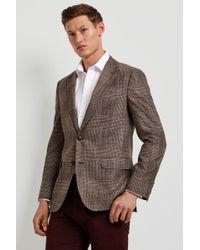 Ermenegildo Zegna Tailored Fit Brown Check Jacket