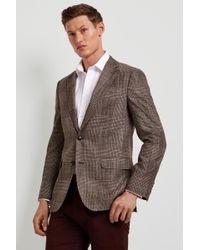 Ermenegildo Zegna Tailored Fit Brown Check Jacket