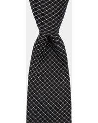 DKNY - Black Cross Pattern Tie - Lyst