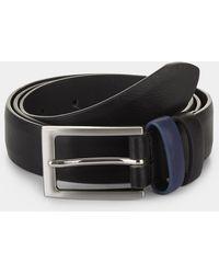 Moss London - Black Belt With Cobalt Keeper - Lyst