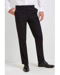 Moss Esq. - Regular Fit Black Dress Trousers - Lyst