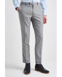 DKNY Slim Fit Light Gray Texture Pants