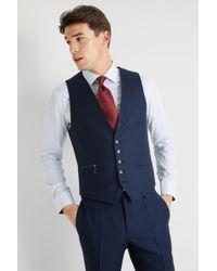 HUGO Navy Birdseye Waistcoat - Blue