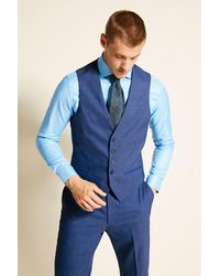 Ted Baker Tailored Fit Faded Blue Eco Waistcoat