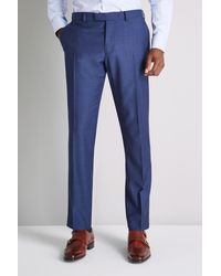 Ermenegildo Zegna Tailored Fit Blue Semi Plain Trouser
