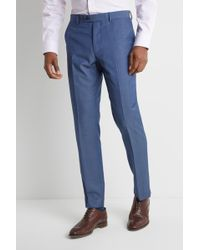 Ted Baker Tailored Fit Faded Blue Twill Pants