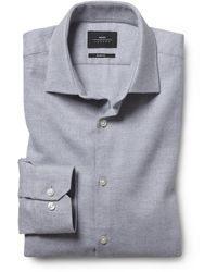 Moss London Slim Fit Grey Stretch Shirt