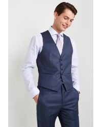 HUGO Mid Blue Semi Plain Blend Waistcoat