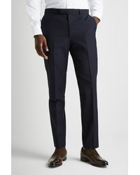 French Connection Slim Fit Navy Trousers - Blue