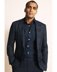Ermenegildo Zegna Tailored Fit Blue Check Jacket