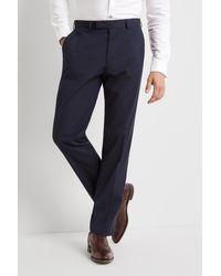 Moss Esq. Regular Fit Blue Stretch Trousers