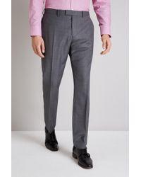 Ermenegildo Zegna Tailored Fit Grey Sharkskin Trouser - Gray