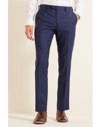 DKNY Slim Fit Blue Sharkskin Pants